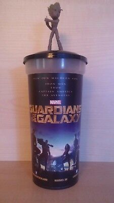 Guardians of the Galaxy Kino Trinkbecher 0,5l + Groot Topper !Neu!Movie Cup