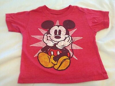Disney Mickey Mouse red t-shirt.....18 months