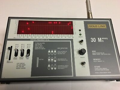 Gold Line 30M8  Audio 31 Band Spectrum Analyzer with mic