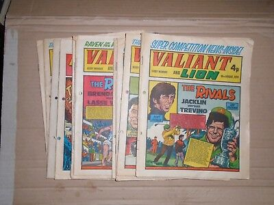 Valiant mixed lot of 11 issues from 1974 all hole punched