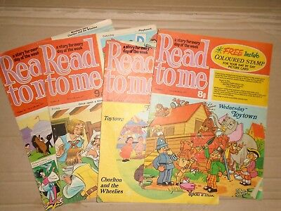 Read To Me mixed lot of 4 issues puzzles done on back 1977