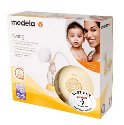 Medela Swing Breastpump, accessory set and Quick clean bags