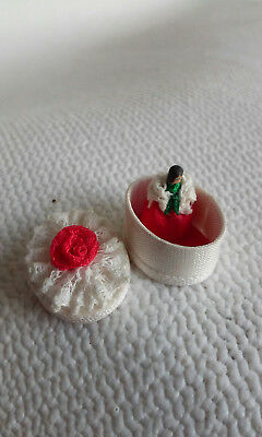 Dollhouse Miniature Artist Made Tiny Doll in Box Signed by by D.M.