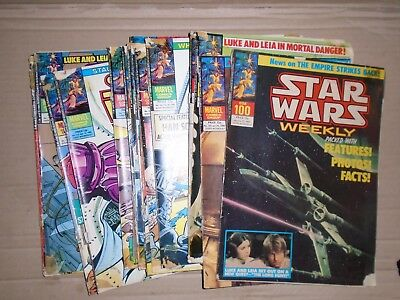 Star Wars Weekly mixed lot of  18 issues rough copies Marvel UK 100 to 117