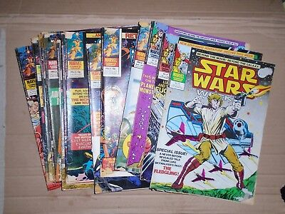 Star Wars Weekly mixed lot of  17 issues rough copies Marvel UK 33 to 75