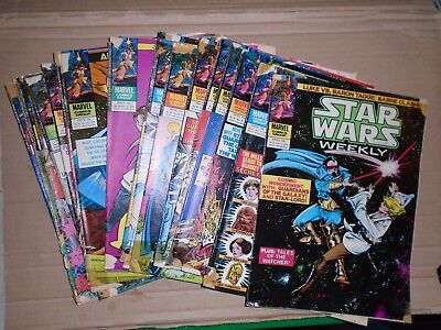 Star Wars Weekly mixed lot of  19 issues rough copies Marvel UK 81 to 99