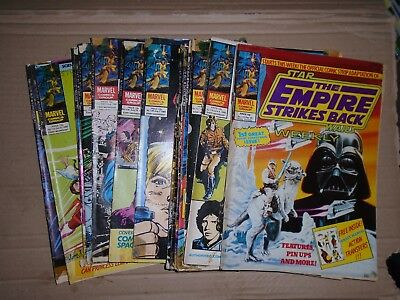 Empire Strikes Back Week mixed lot of 20 issues rough Marvel UK 118 to 139