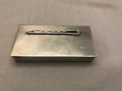 Sterling Silver Box With Figural Hair Pin