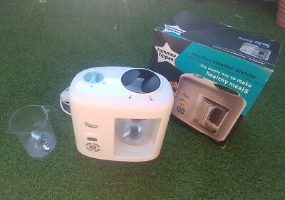 Tommee Tippee baby food steamer blender in box with spare jug