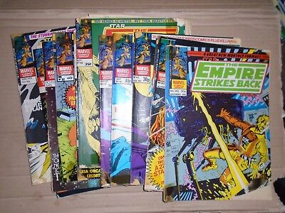 Empire Strikes Back Monthly mixed lot of 12 issues rough Marvel UK 140 to 158