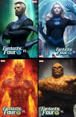 Fantastic Four #1 NM+ Artgerm Variant 4 Book Complete Set