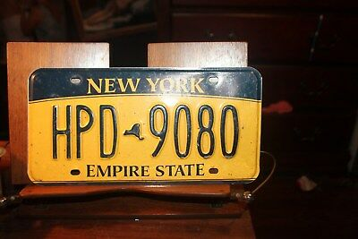 2010 New York Empire State License Plate  HPD 9080