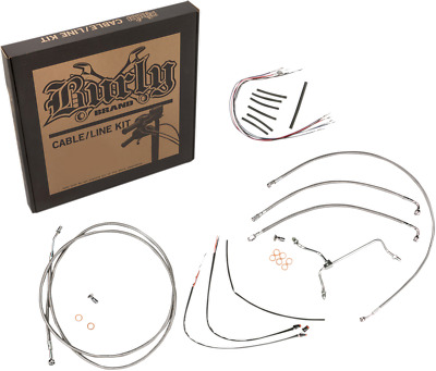 Burly Cable and Brake Line Kits Stainless Braid 18in. Gorilla Bars B30-1154