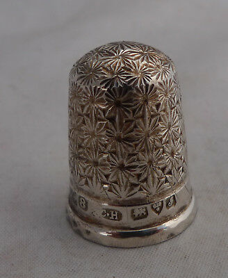 Edwardian Silver Thimble Charles Horner Chester 1909 Size 8 A602017