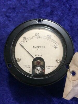 Weston Model 1534 Amperes Gauge 0-200