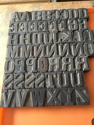 Wooden Type, Letterpress - 52 Characters Just Under 2 Inches