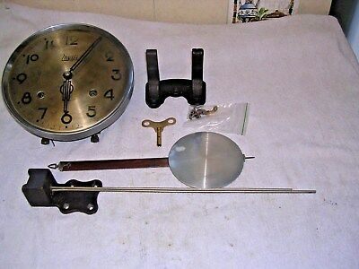 CLOCK  PARTS,MOVEMENt,  CHIME, HANDS,PENDULUM ,KEY