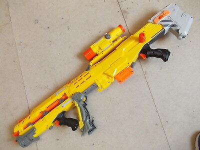 Nerf Long Shot CS-6  Dart Shooter with Bipod, Barrel Extension, Sight & Magazine