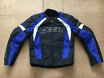 "Gear by RST  Mens Textile Motorcycle Motorbike Jacket UK 42"" chest C8"