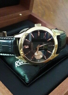 Roamer La Grande Herrenuhr, 44mm, Swiss Made, gelbgold & rotgold