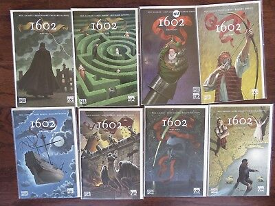 Marvel Comics 1602 Complete Series #1-8 by Neil Gaiman and Andy Kubert