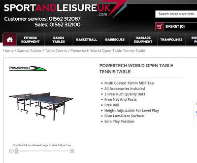 Awesome Powertech World Opentable Tennis Table Unused In Box New Home Interior And Landscaping Eliaenasavecom