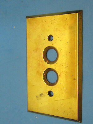 Vintage Brass Antique Push Button Wall Light Switch Plate Cover