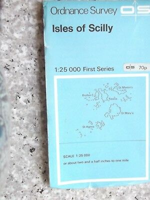 Ordnance Survey First Series 1:25,000 map isles of Scilly.