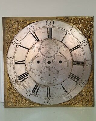 """12"""" Brass Grandfather Clock Dial, Hargreaves of Settle."""
