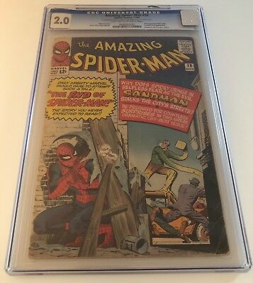 Amazing Spider-Man #18 Cgc 2.0, Light Tan To Off-White, 1964
