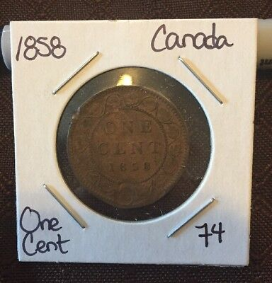 1858 Canada One Cent Lot 74