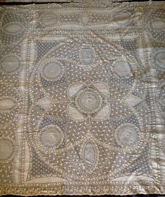 Antique Lace  Absolutely Fabulous Large French Normandy Lace Bedspread