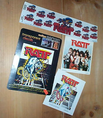 RATT Lot of Vintage  Stickers New Condition