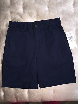 NEW NWT $35 POLO RALPH LAUREN LITTLE BOYS NAVY CLASSIC CHINO SHORTS size 5