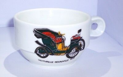 Antique Ceramic True Porcelain Tea Mug Cup Rare Old Car Printed Designe 1893's
