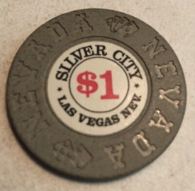 Silver City $1 Casino Chip Las Vegas Nevada 2.99 Shipping