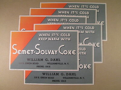 1930's Adv. Blotters - Williamsville NY - William Dahl - Semet-Solvay Coke Coal
