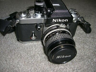 Nikon F2 Camera Body with Nikkor 35mm 2.8 lens Excellent Condition