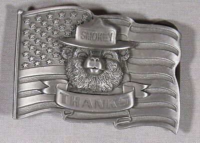 "Smokey Bear ""Thanks"" belt buckle, collectors' edition #297"