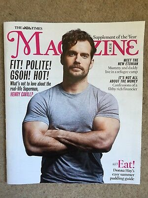 THE TIMES MAGAZINE NEW HENRY CAVILL COVER 15th JULY 2018 SUPERMAN