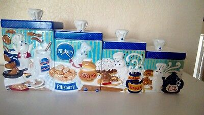 Danbury Mint Pillsbury Doughboy 8 Pc Ceramic Canister Set