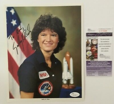 Sally Ride Signed Autographed 8x10 Photo JSA Certified 1st American Woman Space