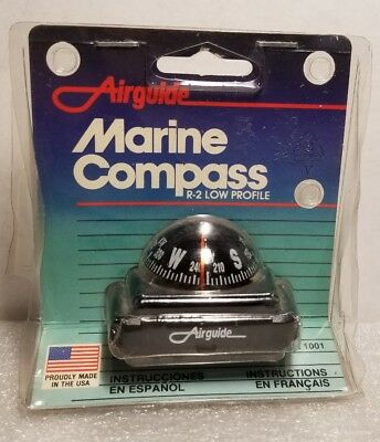 Airguide Marine R-2 Low Profile Compass Model #1001 Made in USA NEW