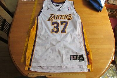 e18bb0067 Adidas Sewn Ron Artest  37 Los Angeles Lakers White Swingman Nba Jersey Men  L+