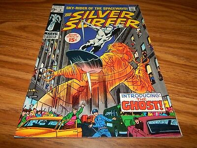 """KEY Silver-Age Comic The Silver Surfer # 8 """"1st App Flying Dutchman"""" FN+ Cond."""