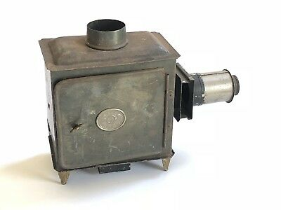 Antique Ernst Plank EP Magic Lantern Incomplete for Parts or Repair