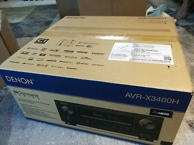 NEW Denon AVR-X3400H 7.2 Channel Full 4K Ultra HD Network 4K Receiver with HEOS