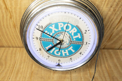 Special Export Light Beer Neon Wall Clock Tested and Working