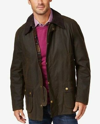 NWT Mens Barbour Ashby Wax Jacket, M, Olive