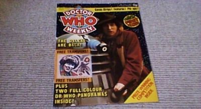 DOCTOR WHO WEEKLY No 1 MARVEL COMICS OCT 1979 TOM BAKER THE DALEKS w/ TRANSFERS